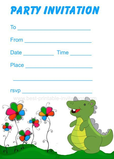 dinosaur birthday invitations - free printable party invites for, Birthday invitations