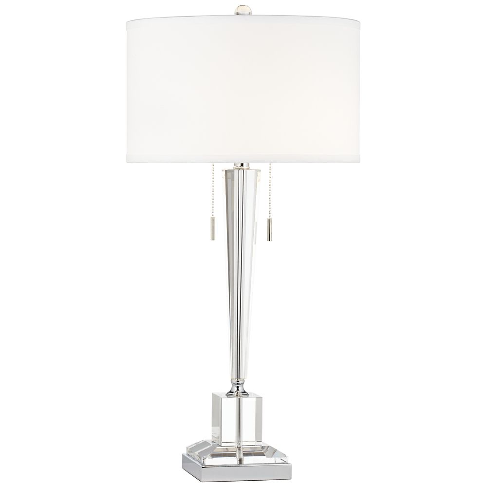 Renee Clear Crystal Glass Table Lamp - Style # 8H914 | Table ...