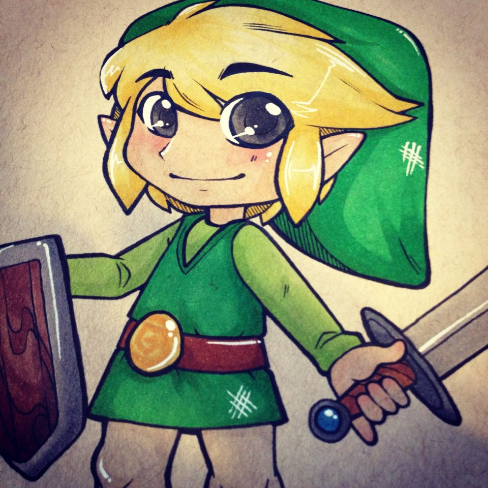 Colored version of Toon Link!