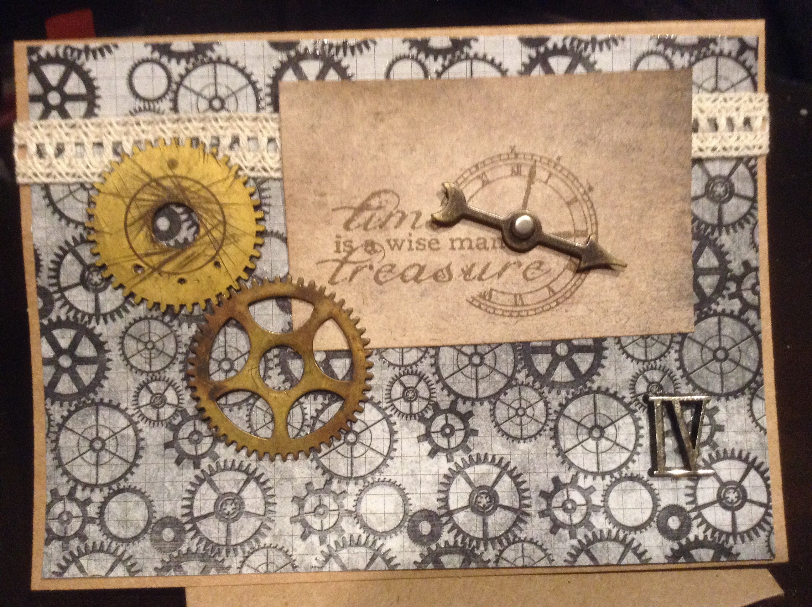 Made this card for an horologist with images