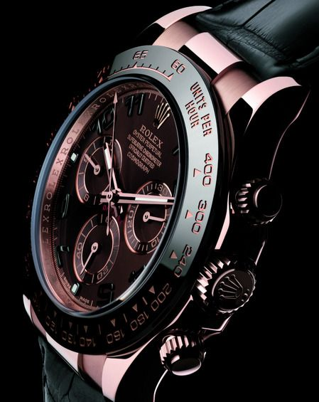 0fd2683b57e Rose Gold and Black Daytona Rolex watch | Style | Watches for men ...