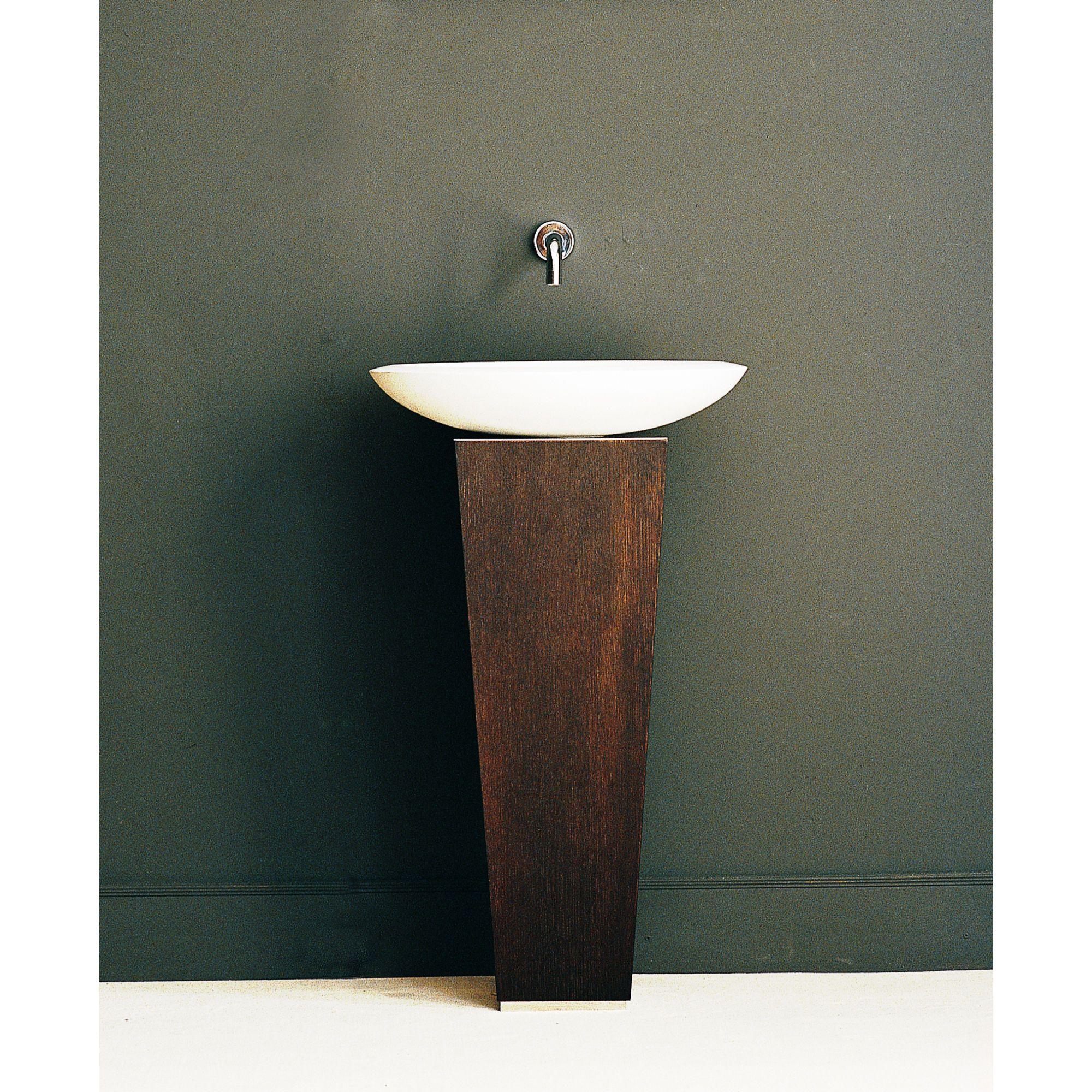 Dark Brown Pedestal Vanity Bathroom Vanity Base Ws Bath