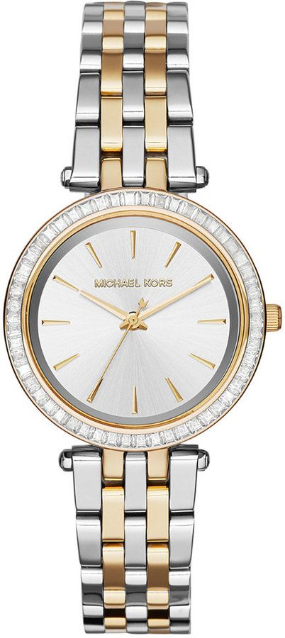 82bfe026c7f2 Love this watch so much!! - Michael Kors Women s Mini Darci Two-Tone  Stainless Steel Bracelet Watch 33mm MK3405