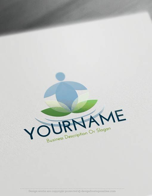 Create A Healthy Logo For Free Yoga Logo Maker