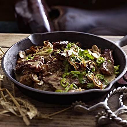 Steakpfanne mit Champignons Rezept | LECKER #sirloinsteakrecipeshealthy