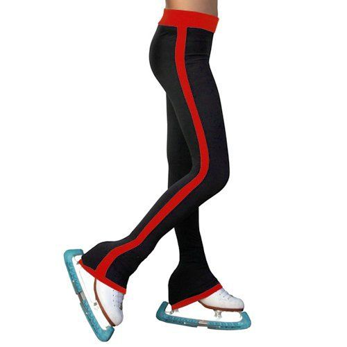 ChloeNoel Girls Red Side Striped Ice Skating Pants 6-12 Adult XS-L Chloe. $54.99