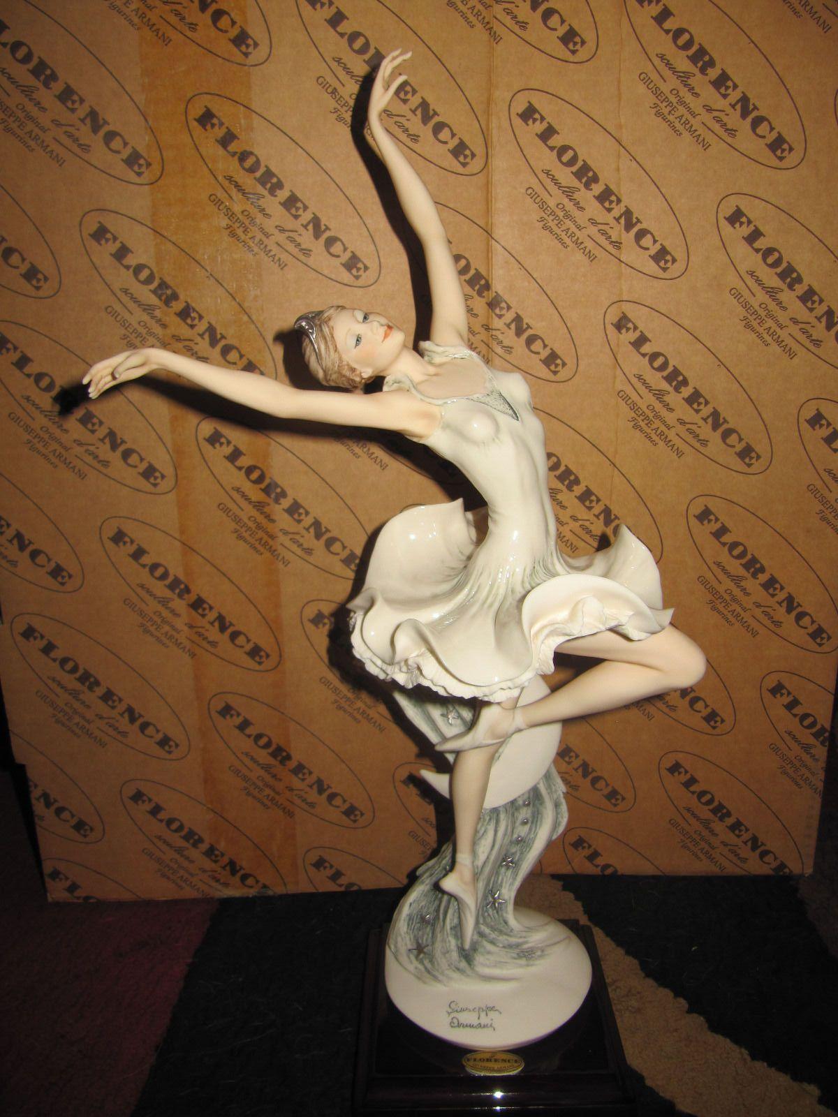 Retired Giuseppe Armani Figurine In Box. Ballerina