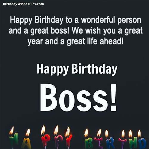 Best Ever Birthday Wishes For Boss With Images Birthday