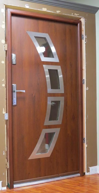 Miami modern metal front entry door contemporary front for Exterior doors miami
