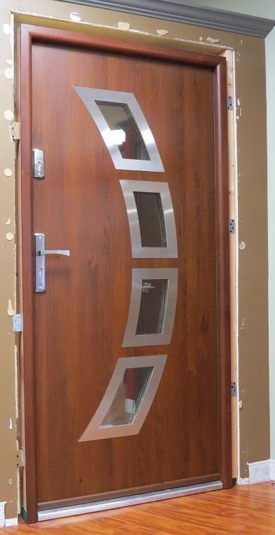 Modern Metal Front Doors. 48 Exterior Door Large Wood Modern Metal ...