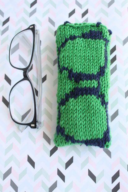 Knit By Bit Free Glasses Case Knitting Pattern Glasses Case