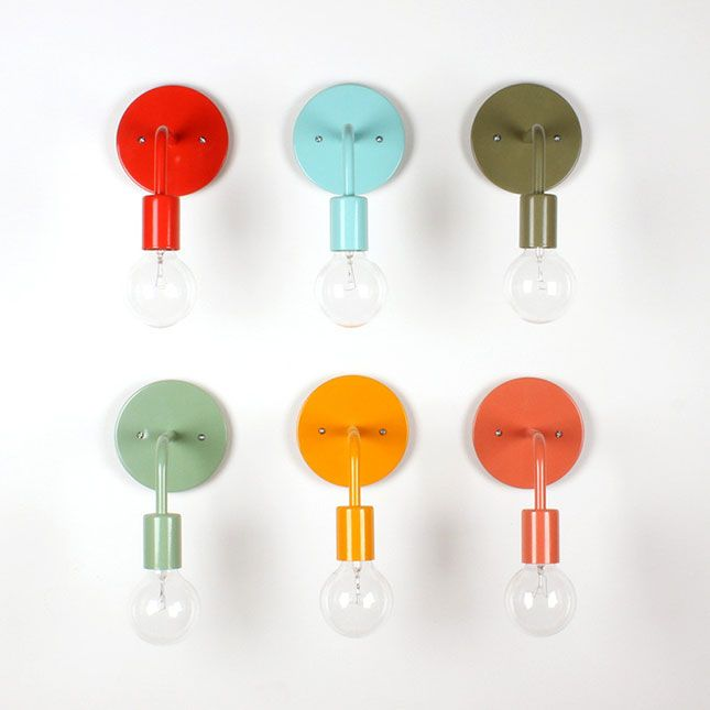 These Colored Wall Sconces Are A Must Have.