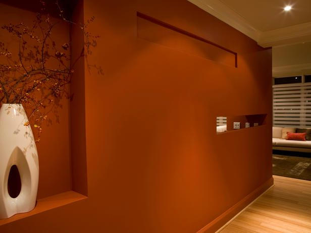 I Am Loving This Y Orange Color Could Be The Paint For L R Accent Wall May Not Even Need To Add Glitter