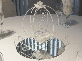 Centre de table pour mariage theme conte de fee princesse - Cendrillon et son carrosse ...