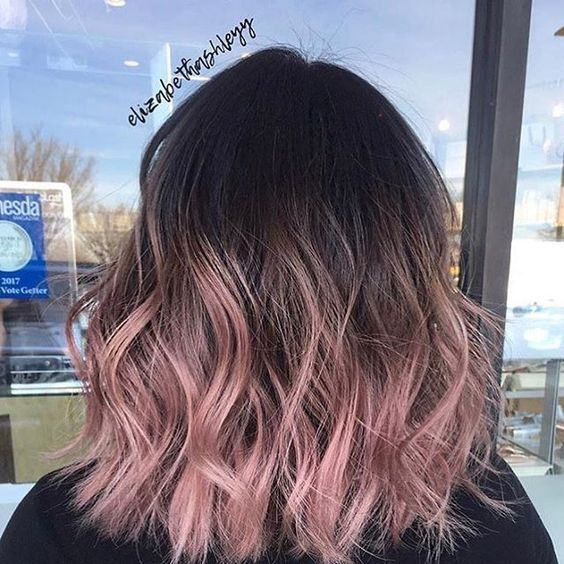 20 Rose Gold Balayage Inspiration for You – Hair Color | 2019