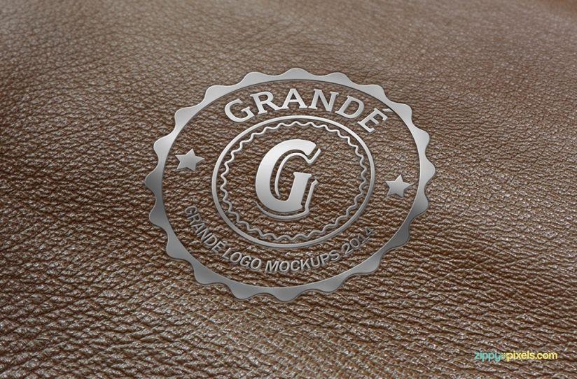 Leather surface logo mockups 6 psd mockups zippypixels