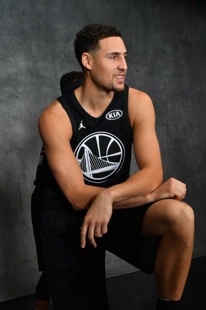 premium selection 1428c dd76a Klay Thompson of Team Stephen poses for a portrait during ...