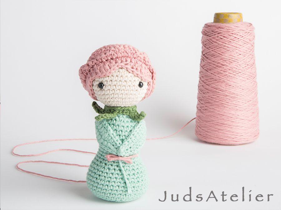 Patrón crochet - patrón de rosa de ganchillo - patrón amigurumi rosa ...