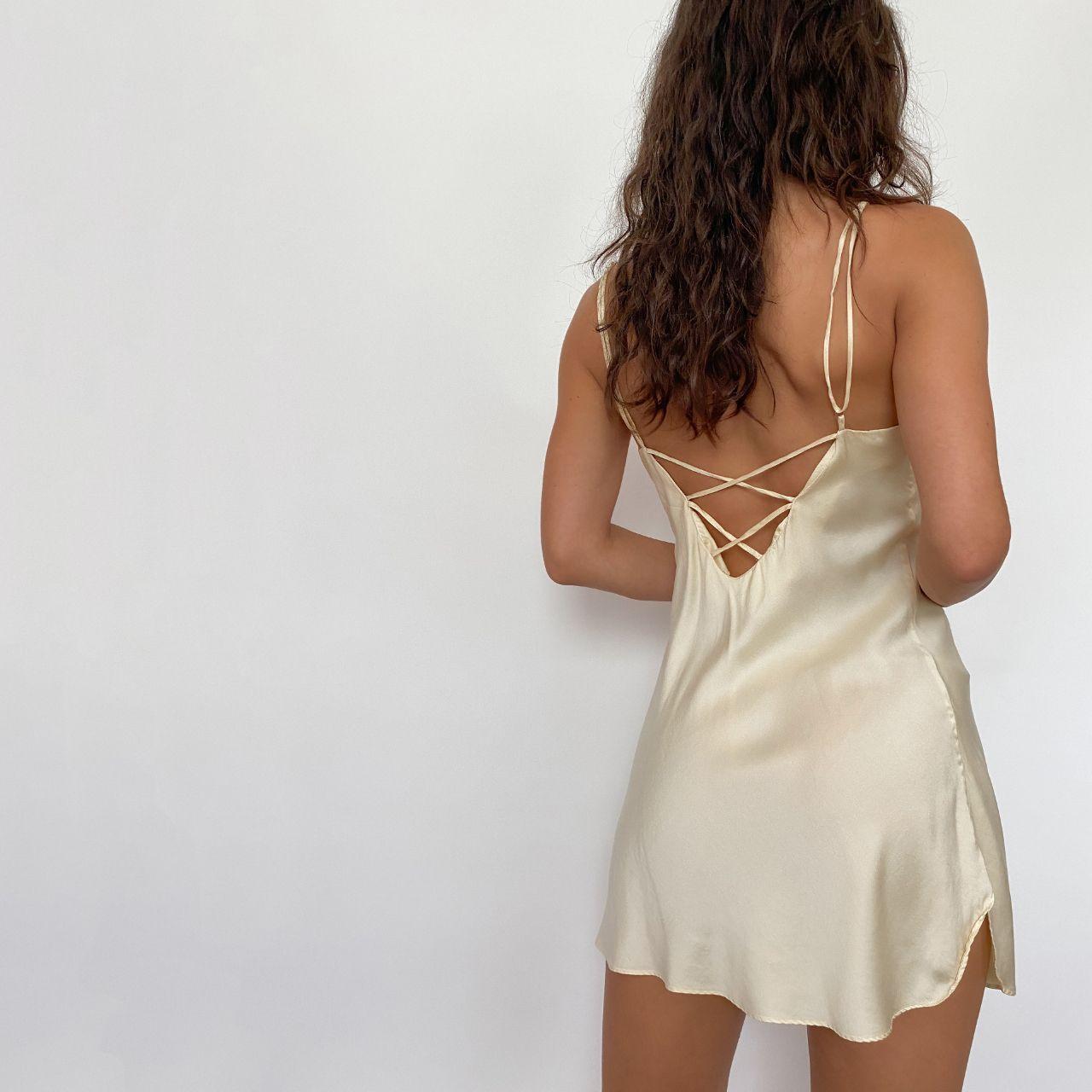 Vintage Victorias Secret Silk Slip Dress Buttercream Depop Silk Slip Dress Slip Dress Silk Slip [ 1280 x 1280 Pixel ]