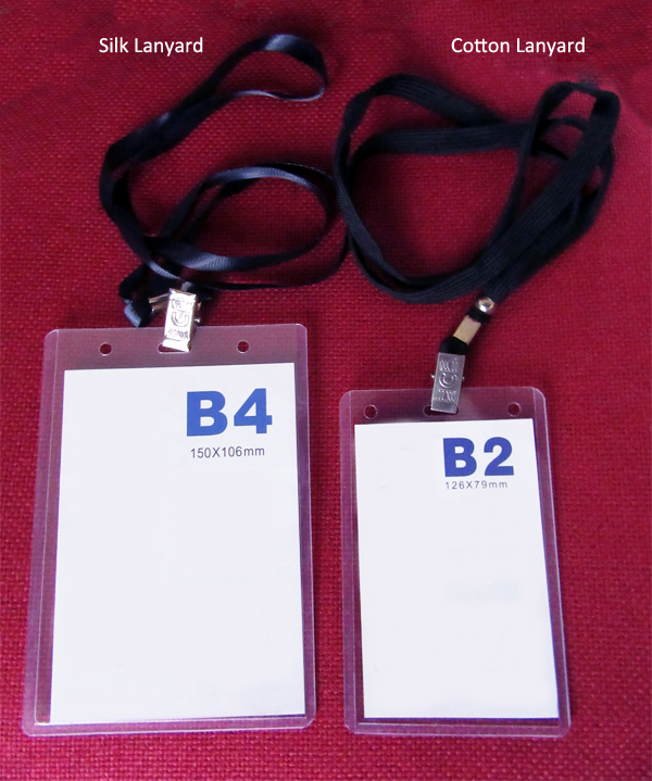 B2 And B4 Size Id Cards With Silk And Cotton Lanyard Event Id Cards Event