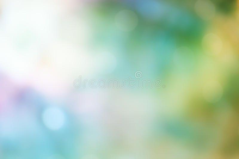 Bokeh Light on green Pastel color Background. ,