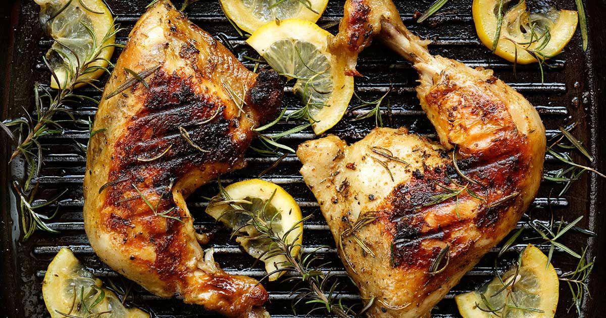 تتبيل الدجاج للشوي Recipe Grilled Chicken Thighs Lemon Rosemary Chicken Marinade