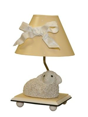 THE WELL APPOINTED HOUSE   Luxury Home Decor  Little Lamb Lamp With Yellow  Shade