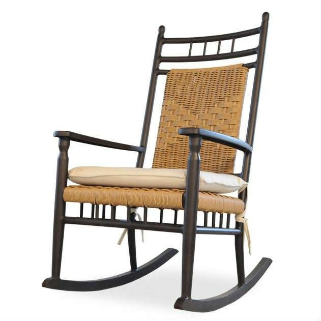 Astonishing Lloyd Flanders Low Country Wicker Porch Rocker Wicker Dailytribune Chair Design For Home Dailytribuneorg