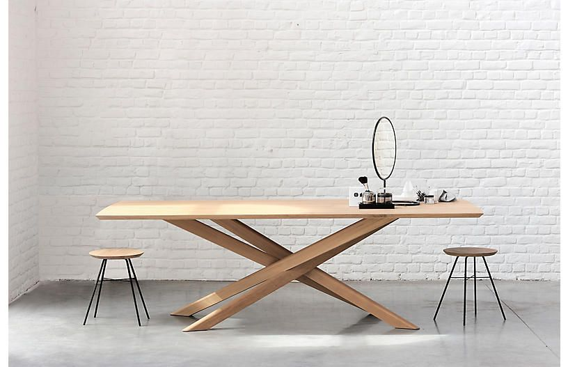 Mikado Dining Table Oak With Images Wooden Dining Tables Oak