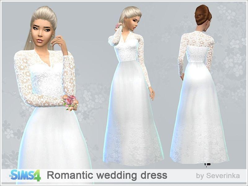 Sims 4 blue dress long sleeve