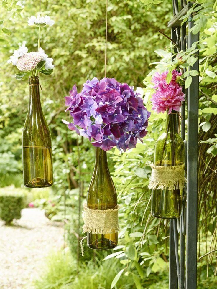 Dekorationsideen für das kleine Weinfest im Garten