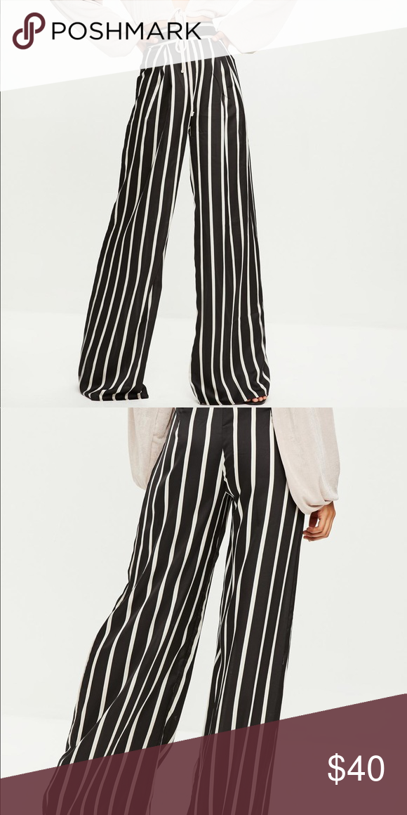 0a378084e897 tall black striped wide leg trousers wide leg pants in a jet black hue with  contrasting