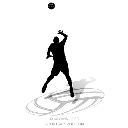 Male Volleyball Silhouette Hit With Ball Sportsartzoo Volleyball Designs Volleyball Silhouette Volleyball Inspiration