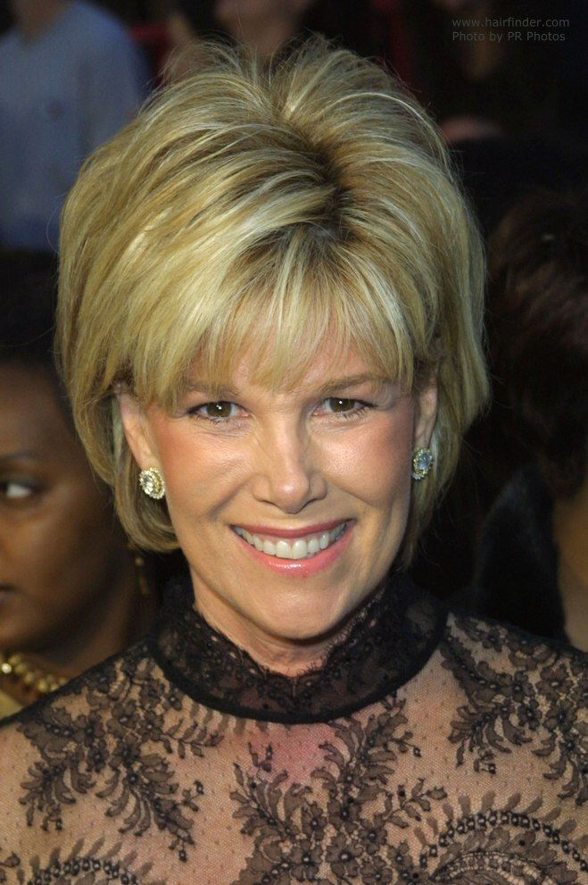 Joan Lunden With Her Short Hair In An Easy Style Short Hair