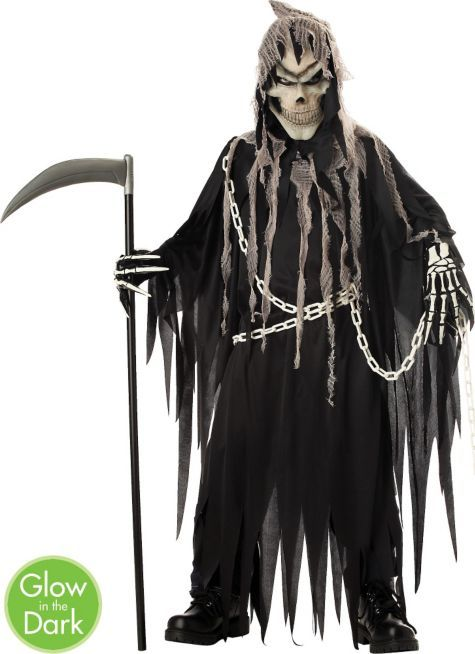 Boys Glowing Mr. Grim Reaper Costume - Party City  5f2c603c1