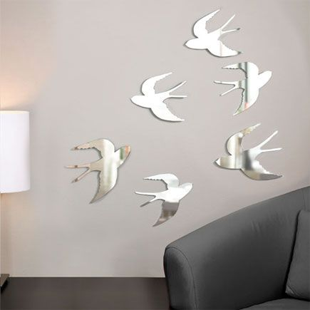 Mirrored swallow wall art!