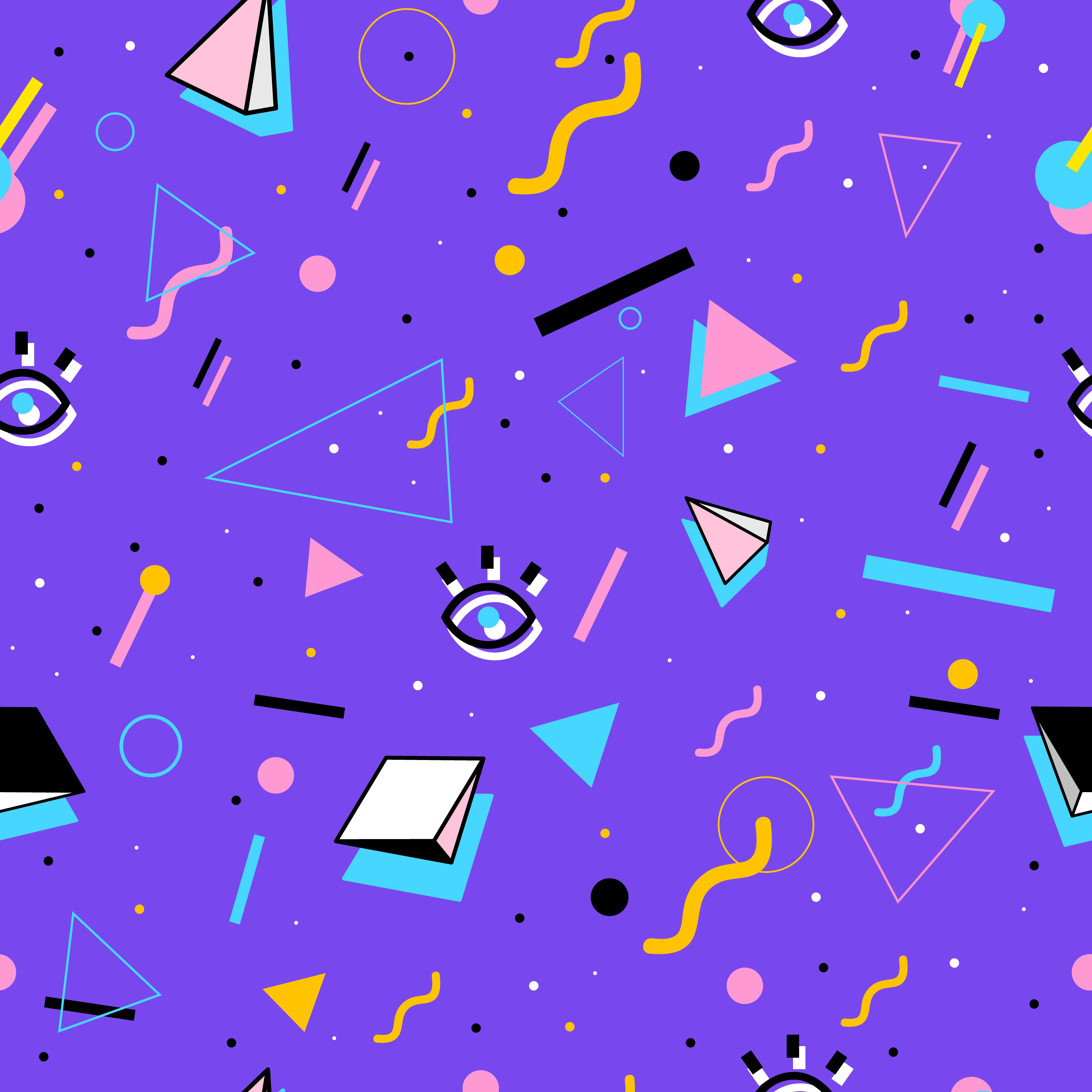 80's style pattern | Pattern-like | 80s design, Retro art