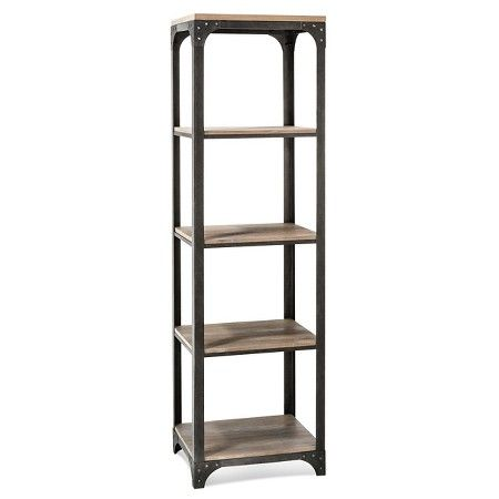 Franklin 5 Shelf Narrow Bookcase The Industrial Shop Target