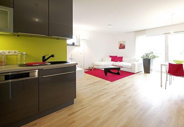 Parkett Erlangen heller wohnraum mit eichenparkett und großen fensterflächen