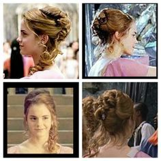 Pin By Lissa Critz On Kid Style Ball Hairstyles Hermione Granger Hair Hermione Hair