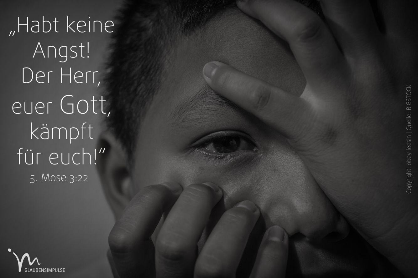 """""""Habt #keine #Angst! Der #Herr, euer #Gott, #kämpft für #euch!"""" 5. #Mose 3:22 #glaubensimpulse"""