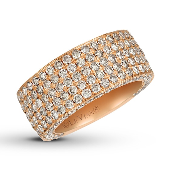 Le Vian Nude Diamond Ring 5/8 ct tw Round 14K Strawberry