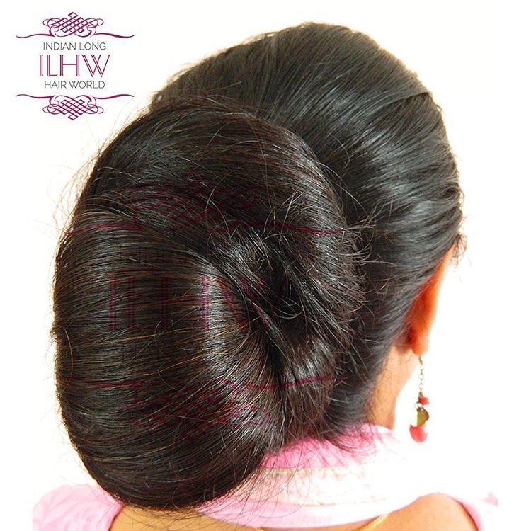 Pin By Stoyan R On Indian Low Bun Hair Styles In 2020 Big Bun Hair Bun Hairstyles For Long Hair Indian Long Hair Braid