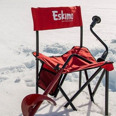 Eskimo 8 In Stainless Steel Ice Fishing Hand Powered Manual