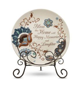 Housewarming giftsPerfectly Paisley Bless This Home Decorative Plate with Stand 8-Inch  sc 1 st  Pinterest & Housewarming gifts:Perfectly Paisley Bless This Home Decorative ...