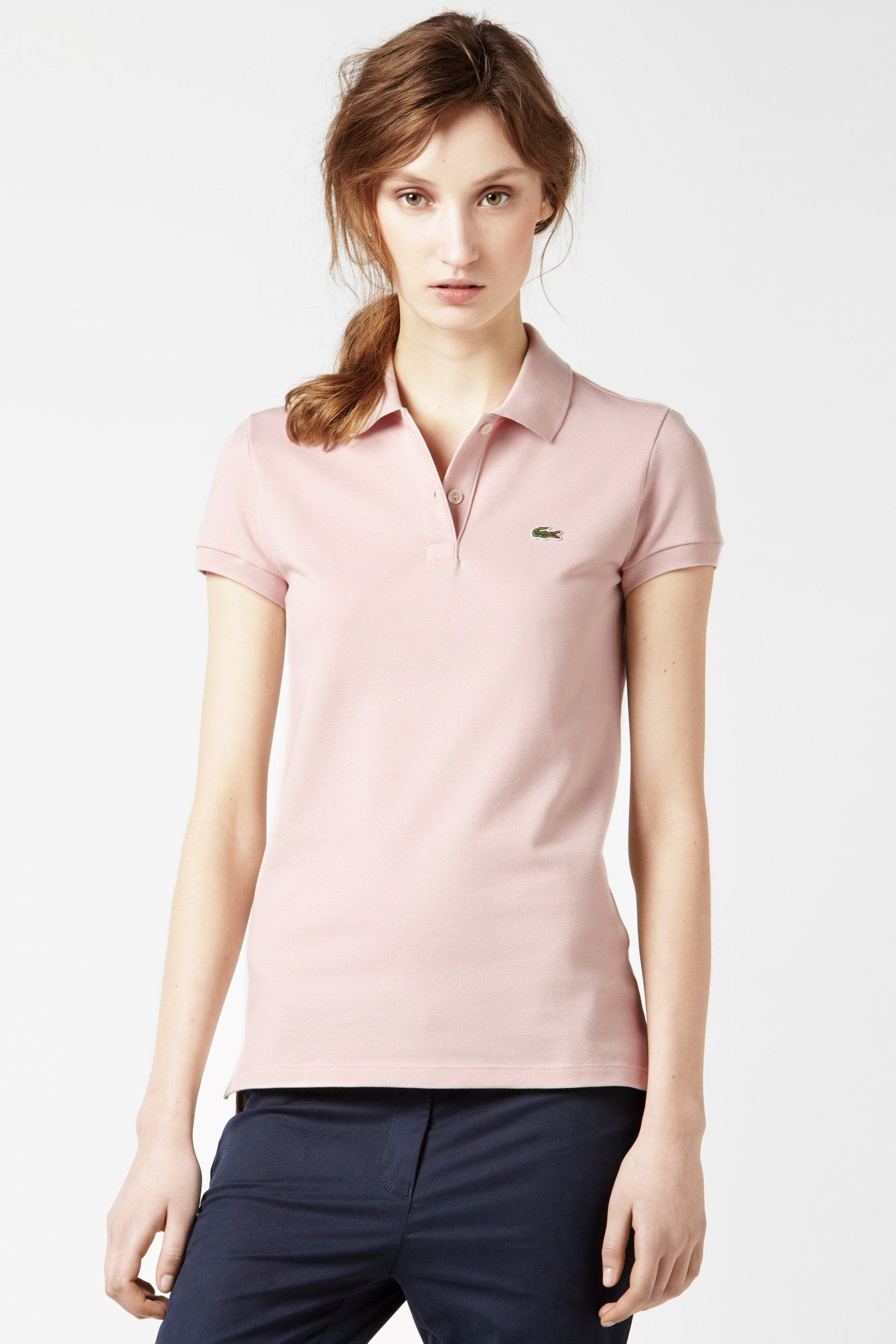 2f987b11f5a2 Pearl Pink Short Sleeve 2 Button Stretch Pique Polo Style   PF170F-51 Lacoste  Polo
