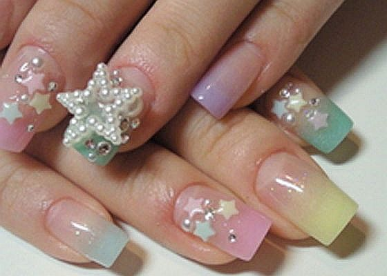 Id lose that star as soon as i stick my hand in my purse i love japanese nail art i love the colors dont like that huge star everthying else loved prinsesfo Image collections