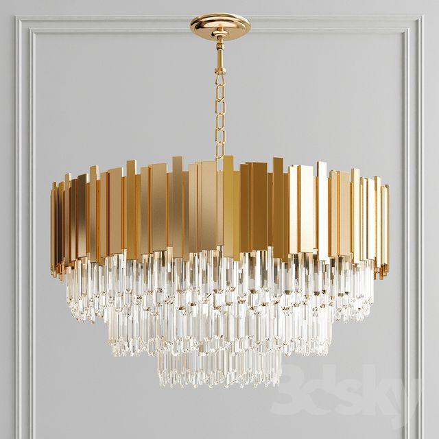 3d models: Pendant light - Creative crystal chande