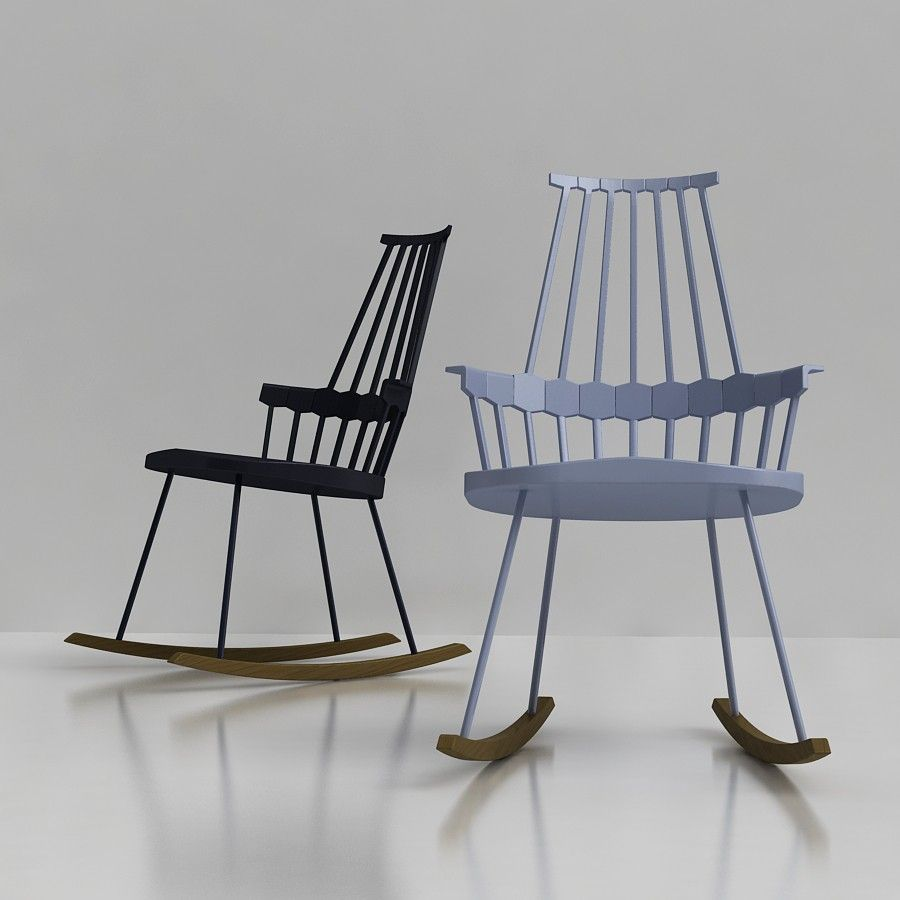 Fantastic Kartell Comback Rocking Chair 3D Model Designed By Patricia Andrewgaddart Wooden Chair Designs For Living Room Andrewgaddartcom