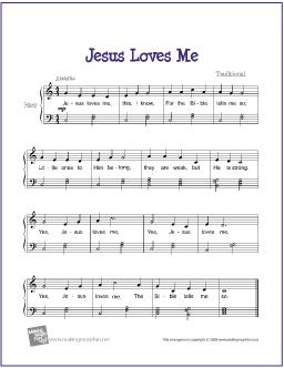 Jesus Loves Me With Images Easy Piano Sheet Music Piano Sheet